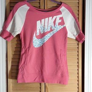Nike Girls sz-L Pink short sleeve sweatshirt